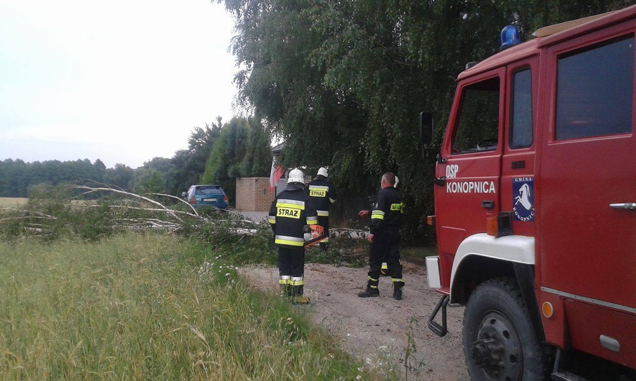osp konopnica akcja strażacy ochotnicza