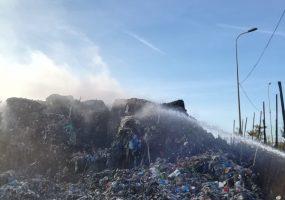 Bełżyce: pożar śmieci na wysypisku